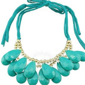 Beautiful Large Water Drop Statement Necklace